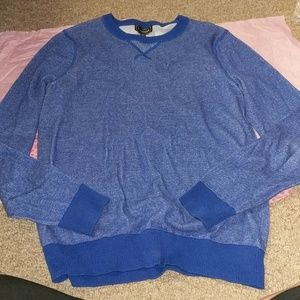 Express Mens CrewNeck Blue Sweater sz Small